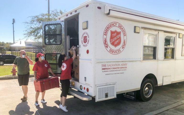 Gulf Coast Salvation Army Units Responding To Needs After Hurricane Zeta
