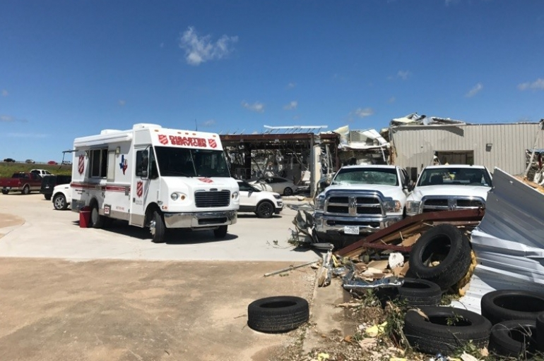 Salvation Army Disaster Teams Respond to Tornadoes in Van Zandt County, Texas