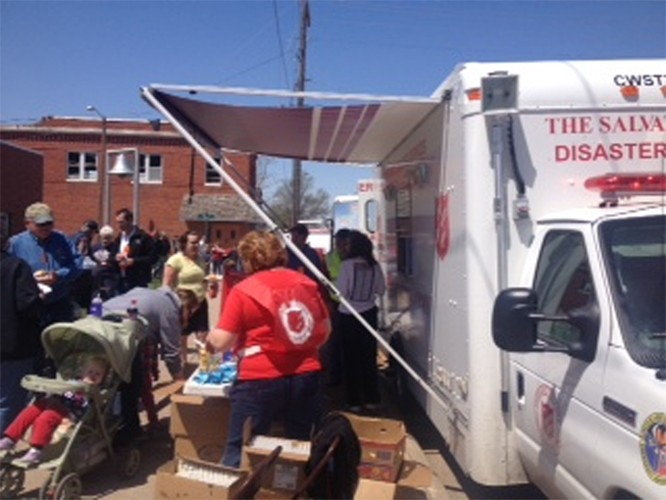The Salvation Army Offers Relief in Beaver Crossing, Nebraska After Sunday Storms