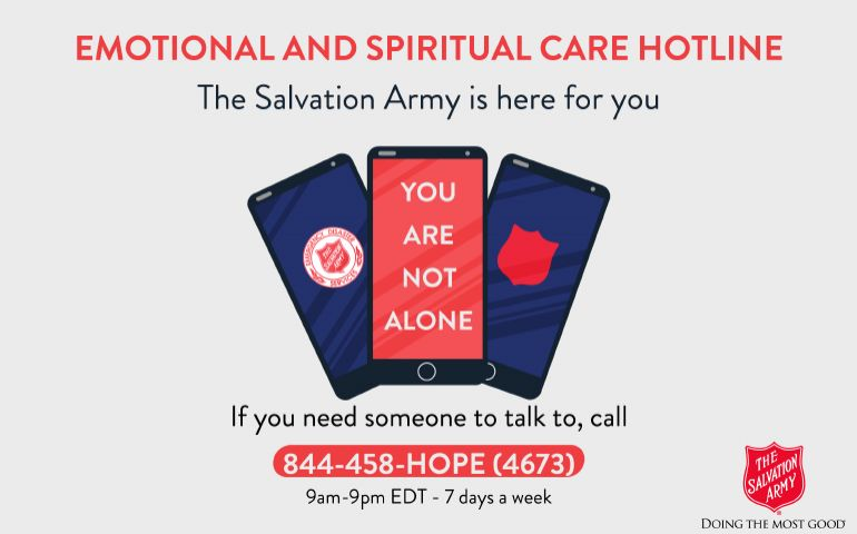 The Salvation Army: Emotional & Spiritual Care Hotline Snapshot #2